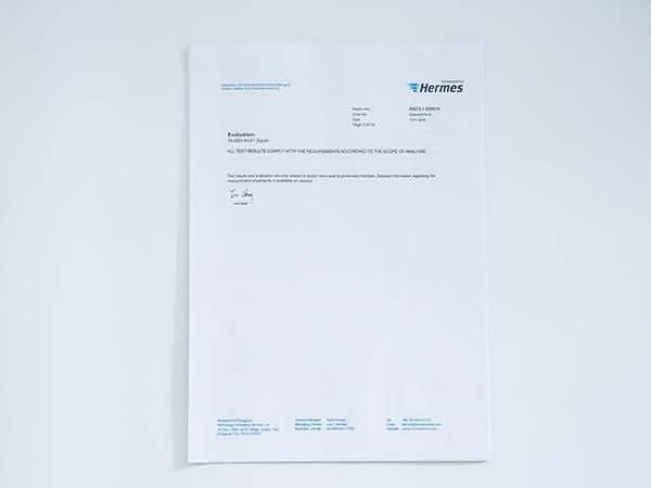 联掌拉链产品检查报告